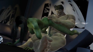 Great Hulk and Hulk woman fuck